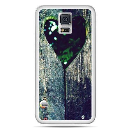 Galaxy S5 Neo etui drewniane serce