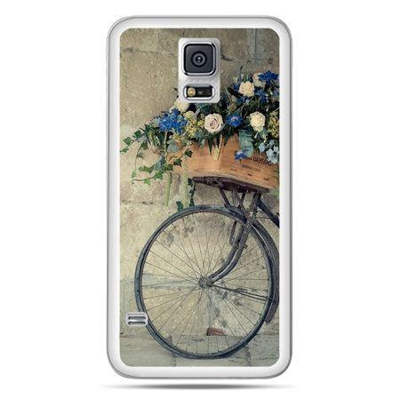 Galaxy S5 Neo etui rower z kwiatami