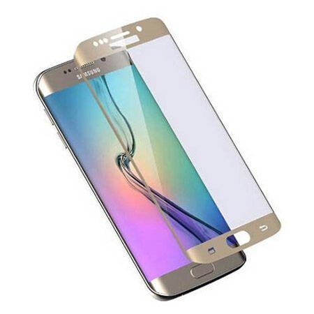 Galaxy S6 Edge Plus Złote hartowane szkło na cały ekran.