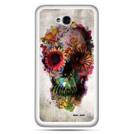 Etui na LG L70 czaszka z kwiatami