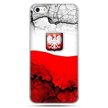 Etui na telefon mapa Polski godlło.
