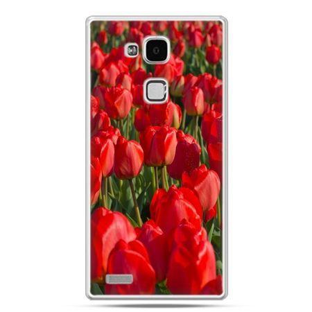 Etui na Huawei Mate 7 czerwone tulipany