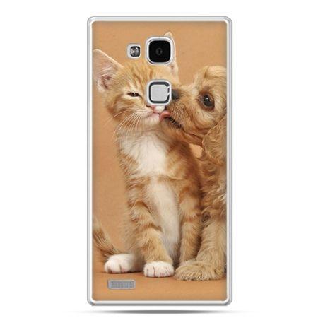 Etui na Huawei Mate 7 jak pies i kot