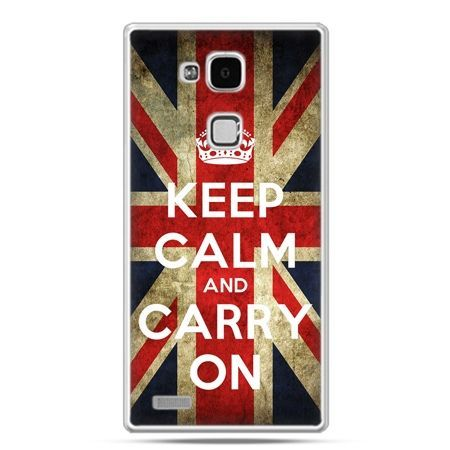 Etui na Huawei Mate 7 Keep calm and carry on