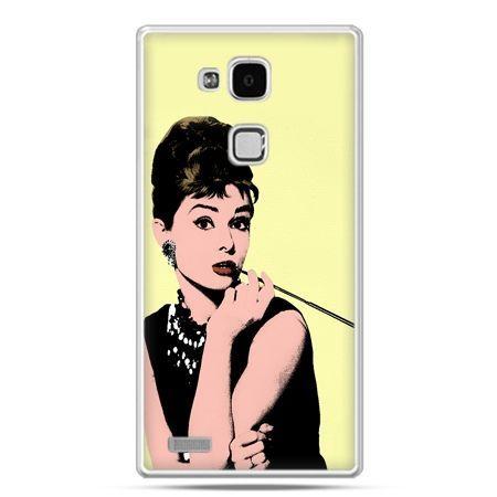 Etui na Huawei Mate 7 Audrey Hepburn z papierosem