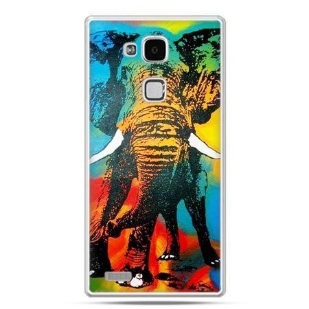 Etui na Huawei Mate 7 kolorowy słoń