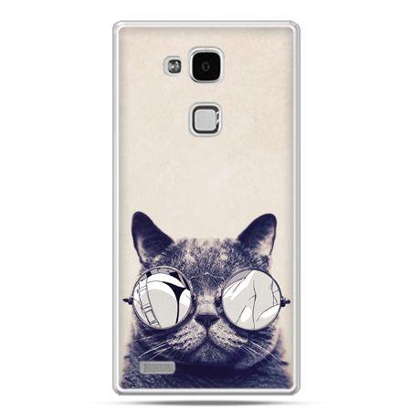 Etui na Huawei Mate 7 kot w okularach