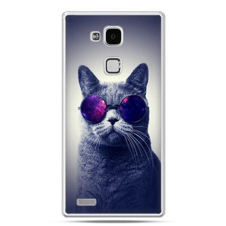 Etui na Huawei Mate 7 kot hipster w okularach
