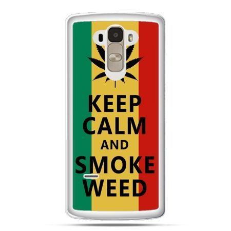 Etui na LG G4 Stylus Keep Calm and Smoke Weed