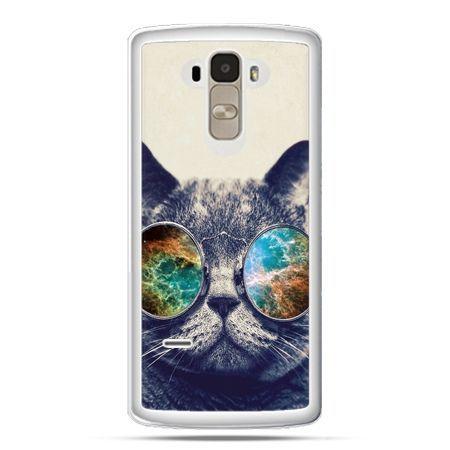 Etui na LG G4 Stylus kot w tęczowych okularach