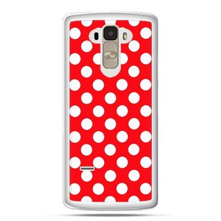 Etui na LG G4 Stylus czerwona polka dot