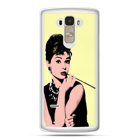 Etui na LG G4 Stylus Audrey Hepburn z papierosem