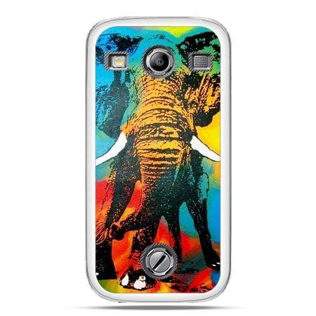 Samsung Xcover 2 etui kolorowy słoń