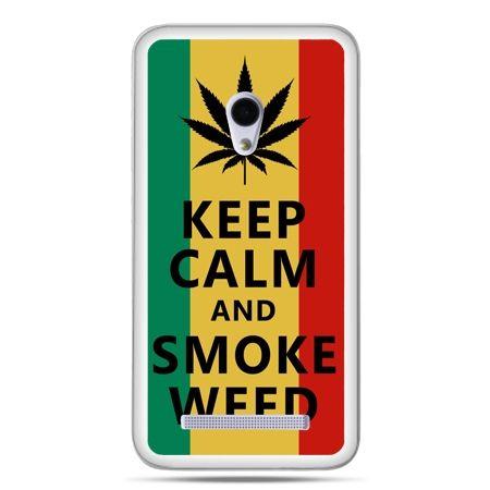 Zenfone 5 etui Keep Calm and Smoke Weed