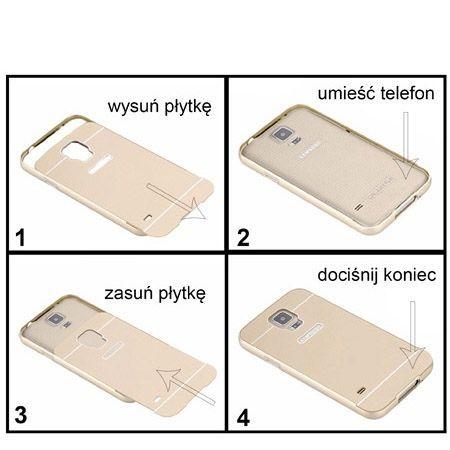 Etui Huawei P8 lite aluminium bumper case złoty