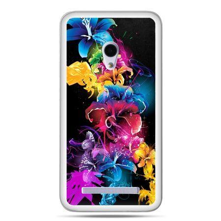 Zenfone 5 etui kolorowe kwiaty
