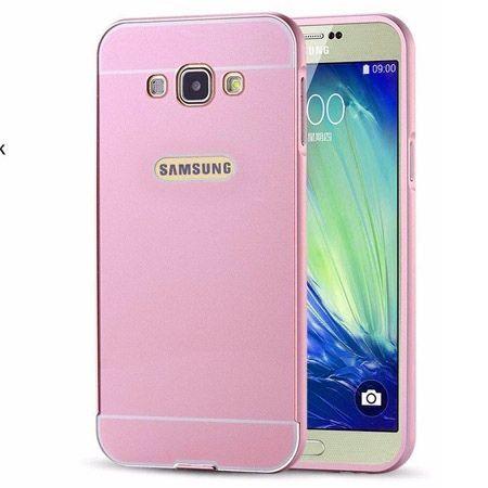 Galaxy A5 etui aluminium bumper case różowy.