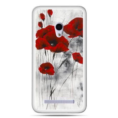 Etui na telefon Zenfone 5 czerwone maki