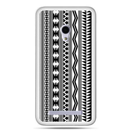 Zenfone 5 etui czarno biały wzorek