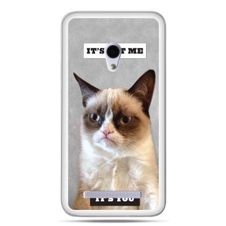 Zenfone 5 etui grumpy kot zrzęda