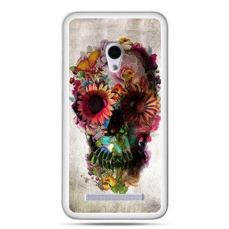 Zenfone 5 etui czaszka z kwiatami