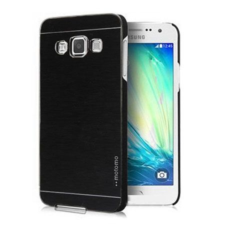 Galaxy A3 etui Motomo aluminiowe czarne.