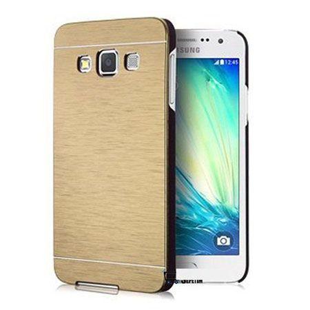 Samsung Galaxy A3 etui Motomo aluminiowe złote.