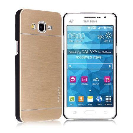 Samsung Galaxy A5 etui Motomo aluminiowe złote.