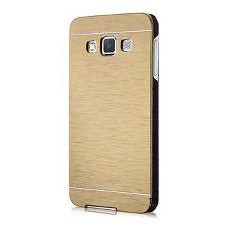 Galaxy Grand Prime etui Motomo aluminiowe złote.