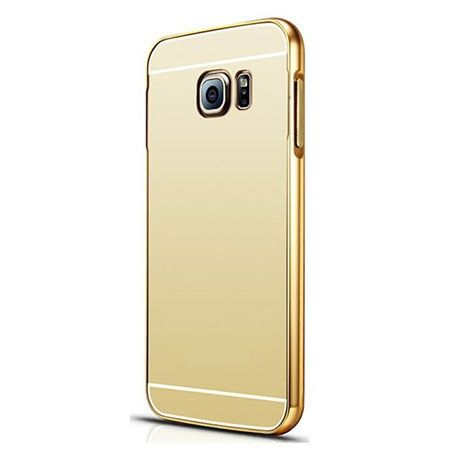 Galaxy S6 etui aluminium bumper case mirror złoty.
