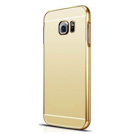 Galaxy S6 etui aluminium bumper case mirror złoty