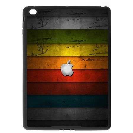 Etui na iPad Air 2 case kolorowe pasy z logo apple