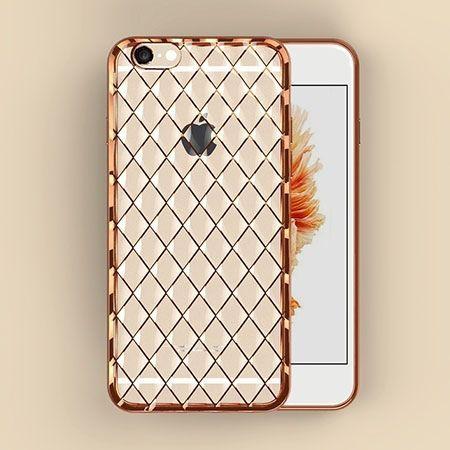 Luksusowe etui Diamonds iPhone 6 silikonowe platynowane tpu złote.
