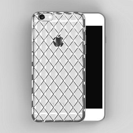 Luksusowe etui Diamonds iPhone 6 / 6s silikonowe platynowane tpu srebrne . PROMOCJA !!!