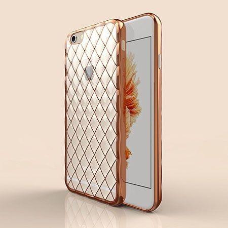 Luksusowe etui Diamonds iPhone 6 Plus silikonowe platynowane tpu złote.