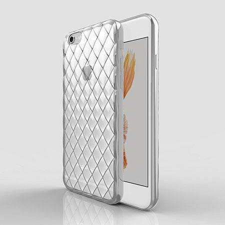 Luksusowe etui Diamonds iPhone 6 Plus silikonowe platynowane tpu srebrne.