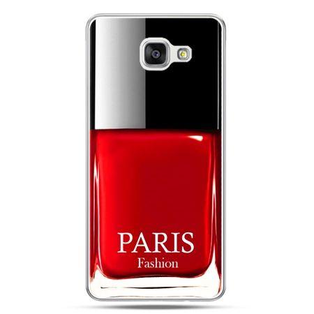 Galaxy A5 (2016) A510, etui na telefon lakier do paznokci czerwony