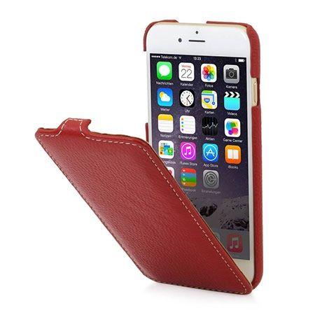 Stilgut UltraSlim iPhone 6, 6s skórzane etui z klapką czerwone.