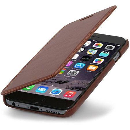 Stilgut iPhone 6, 6s skórzane etui BOOK z klapką brązowe.