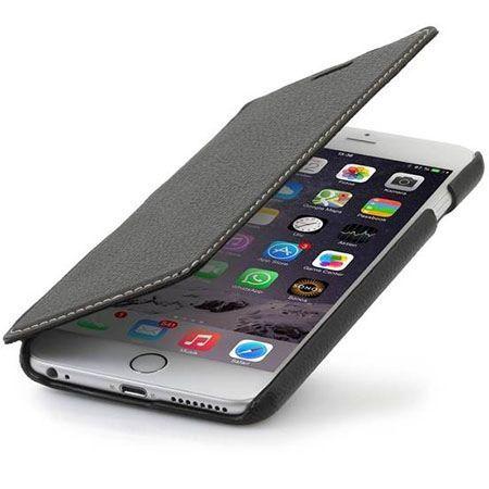 Stilgut iPhone 6, 6s skórzane etui BOOK z klapką czarne.