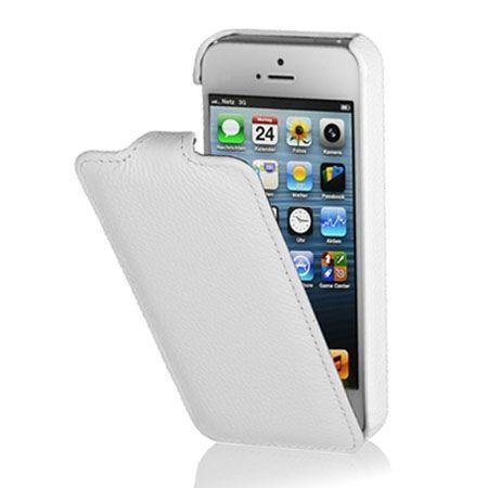 Stilgut iPhone 5 & 5s Ultraslim skórzane etui białe.