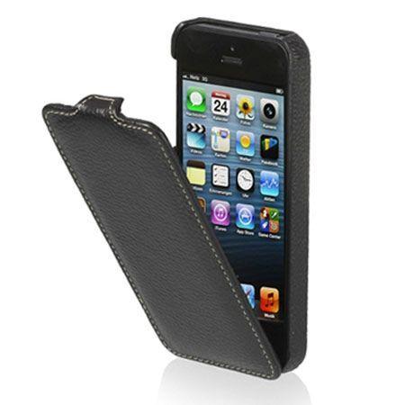 Stilgut iPhone 5 & 5s Ultraslim skórzane etui czarne.