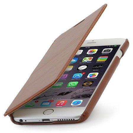 Stilgut iPhone 6 Plus skórzane etui BOOK z klapką brązowe.