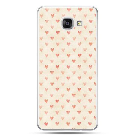 Galaxy A5 (2016) A510, etui na telefon czerwone serduszka