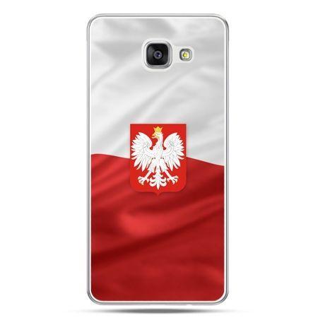 Etui na telefon Galaxy A7 (2016) A710 patriotyczne - flaga Polski z godłem