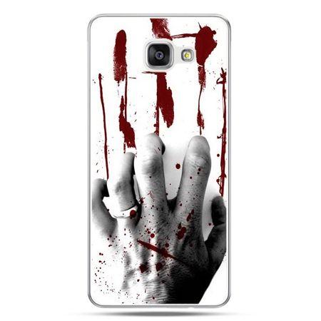 Galaxy A7 (2016) A710, etui na telefon zakrwawiona ręka
