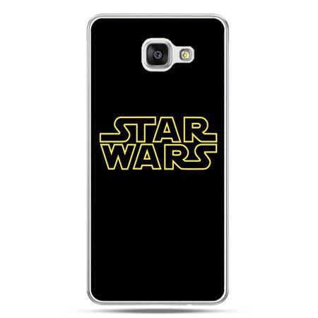 Galaxy A7 (2016) A710, etui na telefon Star Wars złoty napis