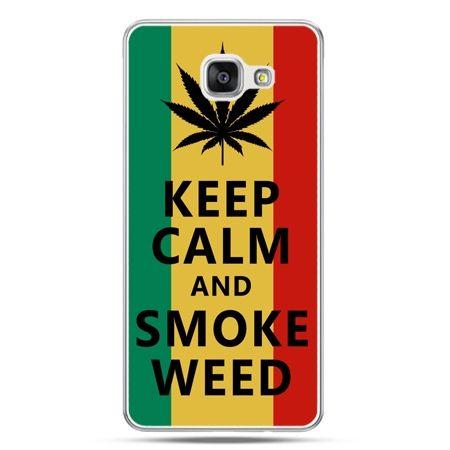 Galaxy A7 (2016) A710, etui na telefon Keep Calm and Smoke Weed