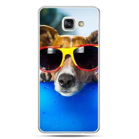 Galaxy A7 (2016) A710, etui na telefon pies w kolorowych okularach