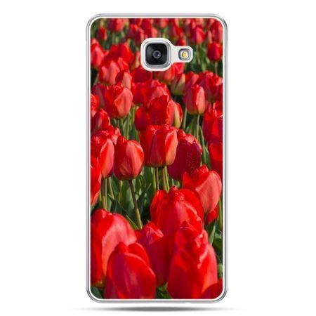 Galaxy A7 (2016) A710, etui na telefon czerwone tulipany